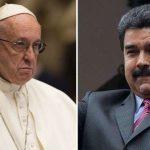 """Imprensa vaza carta do Papa Francisco ao """"senhor"""" Nicolás Maduro"""