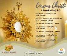 Corpus Christi - Jesus por amor, quis estar presente entre nós!