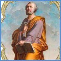 São Pedro, rocha firme da igreja de Cristo.